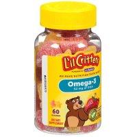 L'il Critters Omega-3 DHA ,促进大脑发育,60粒