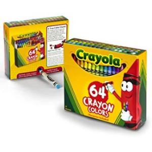 白菜价$4.47(原价$13.49)Crayola 64色彩色蜡笔,学童必备~