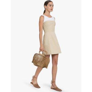 Carolina Tan Bustier Dress