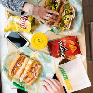 Get $5 offOrder from Subway App when you pay with PayPal