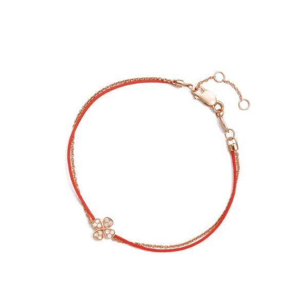 四叶草玫瑰金小红绳