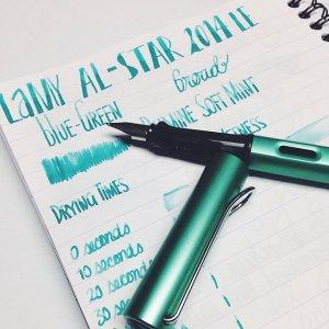 折后仅€19.5 书写流畅Lamy 恒星系列2014限量色 BlueGreen热促 超美金属质感