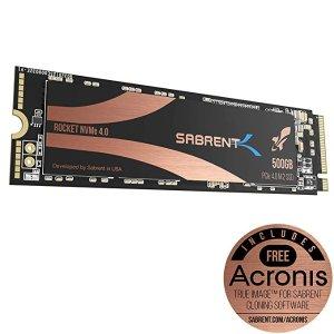 Sabrent171KS295Sabrent 500GB Rocket Nvme PCIe 4.0 M.2 2280 SSD