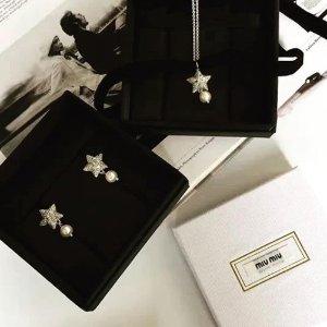 水晶耳钉$430起MiuMiu 仙女专属项链、耳钉热卖