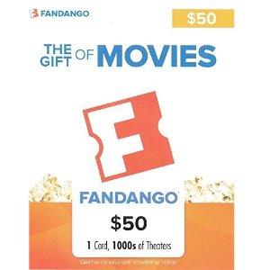 $40Fandango $50 Gift Card Flash Sale