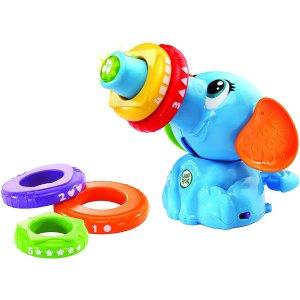 $12(原价$26.99)LeapFrog 可爱小象套圈玩具(法语版) 图案、数字、形状认知