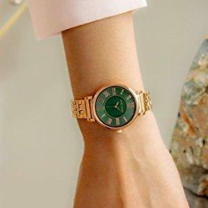 低至3折 玫瑰金水晶$24限今天:Anne Klein 时装女表大促,3件套$44.99
