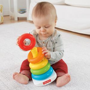 $4.98Fisher-Price 彩虹叠叠乐套圈宝宝早期智力开发玩具
