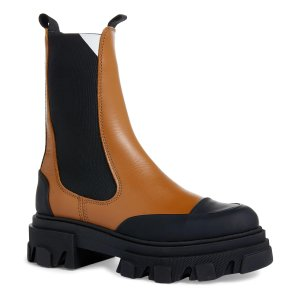 Ganni厚底切尔西靴