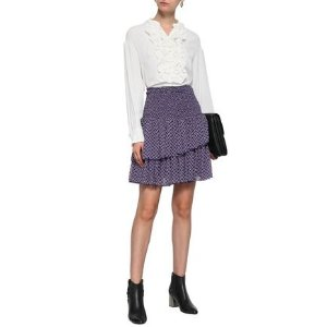 Maje葡萄紫半身裙