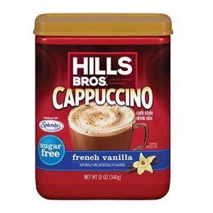 $2.83 可冲泡28杯Hills Bros 无糖法式香草速溶卡布基诺咖啡 12oz