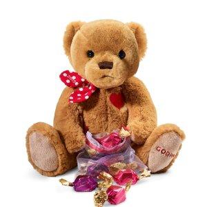 $25包邮Godiva 情人节小熊公仔巧克力套装,限量版