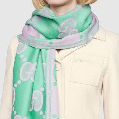 £125收100%全羊毛围巾Gucci 围巾帽子热卖 秋天悄咪咪的来了 收秋冬的第一份暖意