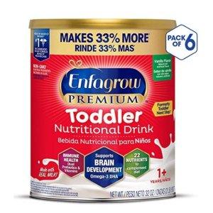 封面款$18+Enfagrow PREMIUM婴幼儿三段配方奶粉 32oz 6罐装