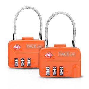 $5.97 包邮TACKLIFE 行李箱密码锁 2个 带TSA海关锁