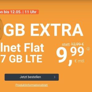 月租€9.99 带号入网再送10欧送2GB+免接通费 包月所有电话/短信+7GB上网+欧盟漫游