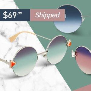1.3折起 封面$69 (原价$550)Fendi 多款墨镜好价回归 物理瘦脸神器 收赵丽颖同款