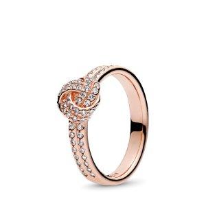 Pandora沈梦辰同款金色戒指