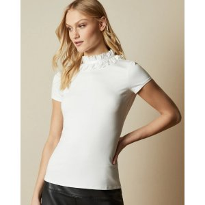 Ted BakerORWLA Frill neck detail T-shirt