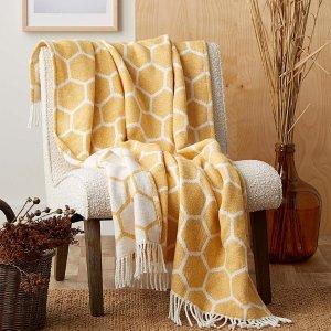 毯子类7.5折起+满减Simons 沙发毯热卖 盖着毯子吹空调才是夏天正确的打开方式