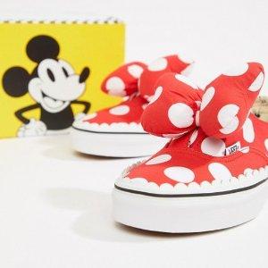 ddd103d8565a Vans X Disney Authentic Gore red spot sneakers at asos.com