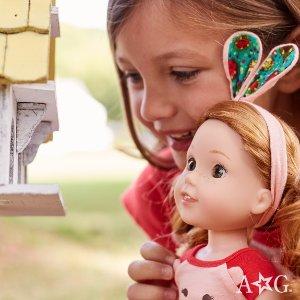 即将截止满百享包邮+每日折扣American Girl美国娃娃官网 促销,小苏瑞等明星宝宝的最爱