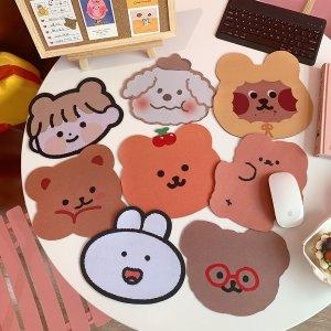 4.1折+买3个额外9.7折 仅€2.17韩国可爱鼠标垫 平整服帖 背部防滑 熊熊、兔兔还是狗狗任你选