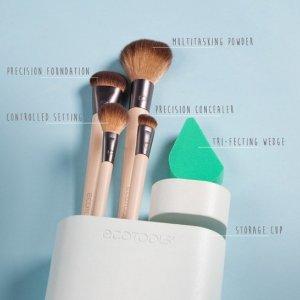 $19.7(原价$22.71)EcoTools 4支化妆刷套装含化妆海绵热卖 好评高CP值