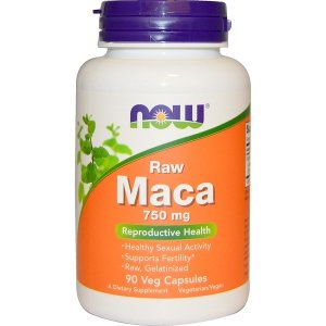 Now Foods (NOW®) Maca, Raw, 750 mg, 90 Veggie Caps