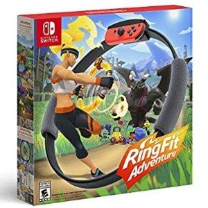 $69.88 运动游戏两不误Nintendo Switch 健身环大冒险 游戏套装, 包含肥宅快乐环
