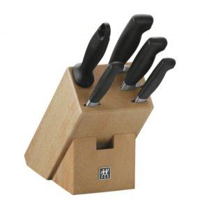 现价€129.99(原价€309)Zwilling 双立人四星厨房刀具六件套装 加赠价值€41.95砧板