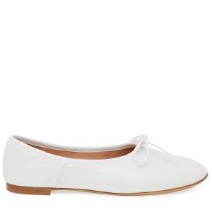 Mansur Gavriel银色平底鞋