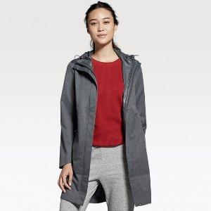 $99.9(原价$129.9)+ 包邮UNIQLO  Blocktech  女士连帽长款外套 (4色可选)