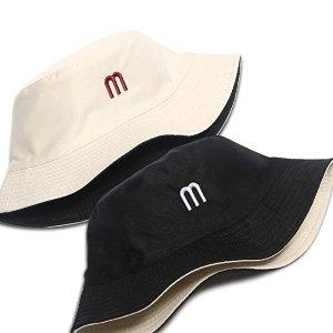 $11.99 (原价$15.99)UV STYLISH 正反两用字母渔夫帽  1顶抵2顶