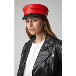 全皮报童帽