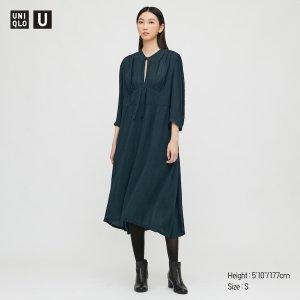Uniqlo墨绿色连衣裙