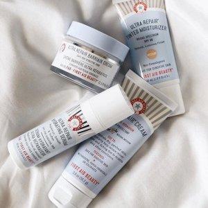 7.5折+送价值$54好礼+免税First Aid Beauty 美容护肤产品促销 收强效修复面霜
