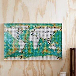 6.5折起LEGO Art系列 新品世界拼图马赛克$379
