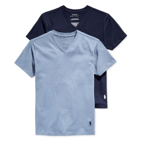 2-Pk. V-Neck Undershirts, Big Boys