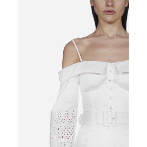 Self PortraitOff-shoulder lace cotton bustier top