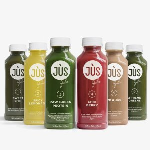 仅$66 + 包邮Jus By Julie 2日JUS 'Til 排毒清肠蔬果汁 + 6瓶Booster Shots