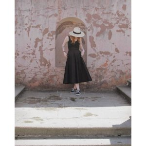 COSA-LINE SKIRT WITH BUTTONS