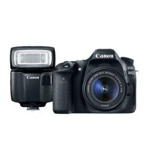 $699.99 双镜头套装同价官翻 Canon EOS 80D 18-55mm 套机 + EL-100闪光灯