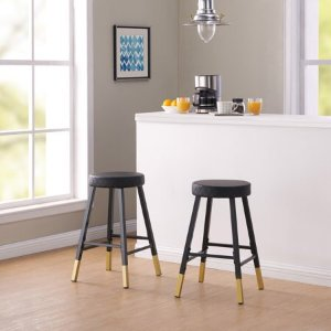 Excellent Mainstays Metal Dipped Leg Backless Counter Stools Set Of 2 Machost Co Dining Chair Design Ideas Machostcouk