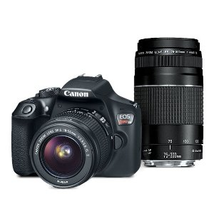 Canon EOS Rebel T6 EF-S 18-55 with EF 75-300mm Refurbished