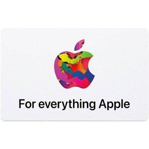 Apple电子版 Apple 礼卡 面值$100