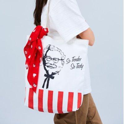 低至5折 £38收封面肯德基爷爷Tote包Human Made x KFC 联名款折扣热卖 收好评如潮联名款好时机