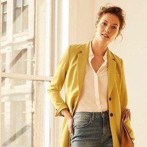 2折起 $39.9收封面黄色小西装逆天价:Twik 时尚女装清仓甩卖,捡漏基础打底衫、日常T恤