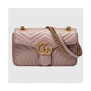 GucciGG Marmont Small Shoulder Bag - Pink