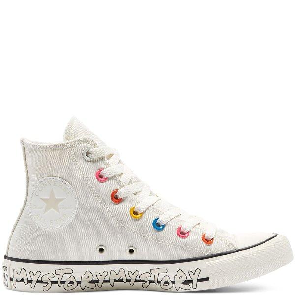 彩虹鞋带扣 高帮鞋